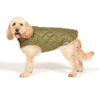 Quilted Dog Coat Forest Green