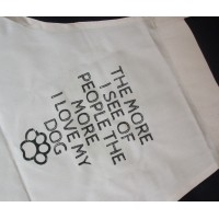 The More I See People The More I Love My Dog Apron