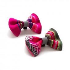 HIRO + WOLF Inca Pink Bow Tie