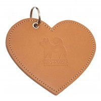HIRO + WOLF Leather Poo Pouch Heart Impala Tan
